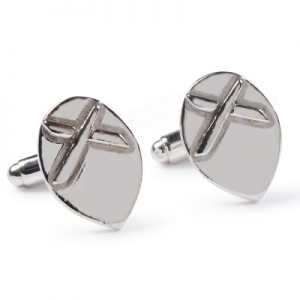 cornish tin & silver kiss cufflinks