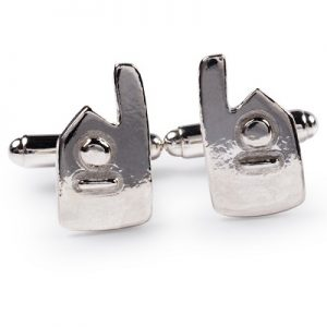 cornish tin & silver engine house cufflinks