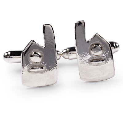 cornish tin & silver engine house cufflinks
