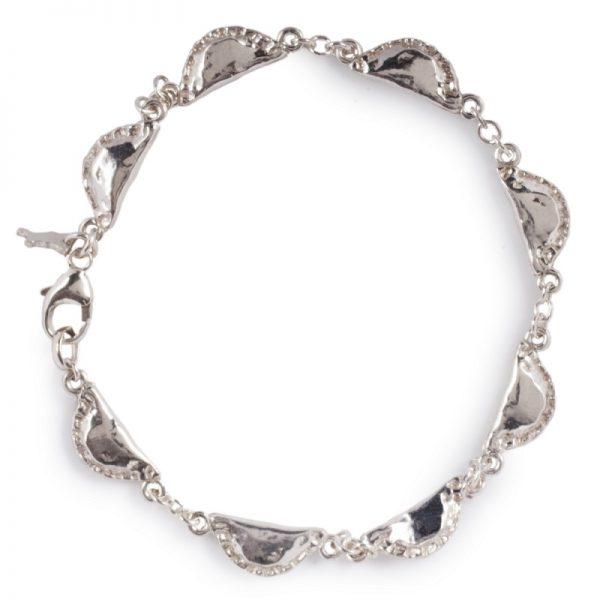 cornish tin & silver pasty bracelet