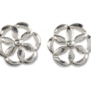 cornish tin & silver round daisy studs