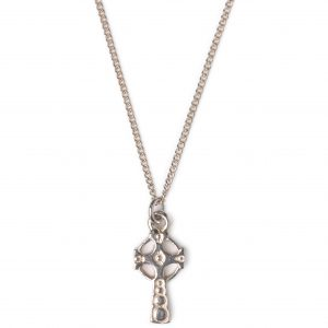 image of cornish tin and white gold cross necklace.