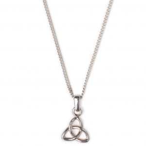 cornish tin and silver tri knot necklace