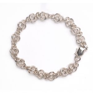 cornish tin & silver round knot bracelet