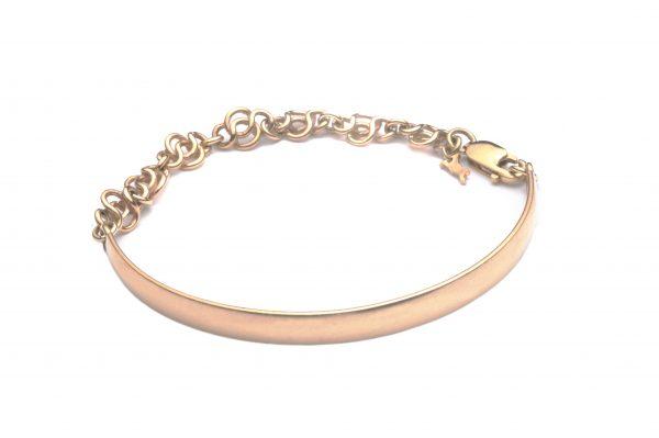 cornish tin & gold chain bangle
