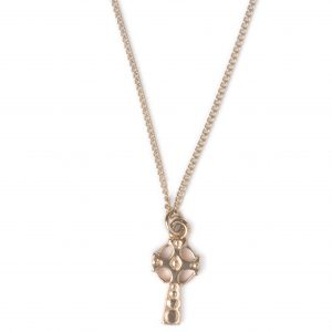 Image of Cornish Tin & Gold ~ Solid Cross Necklace