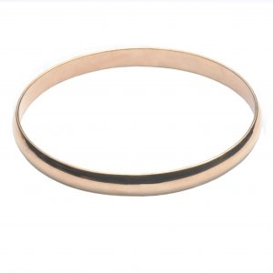 cornish tin & gold bangle