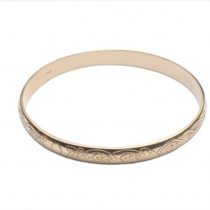 image of cornish tin and gold bangle