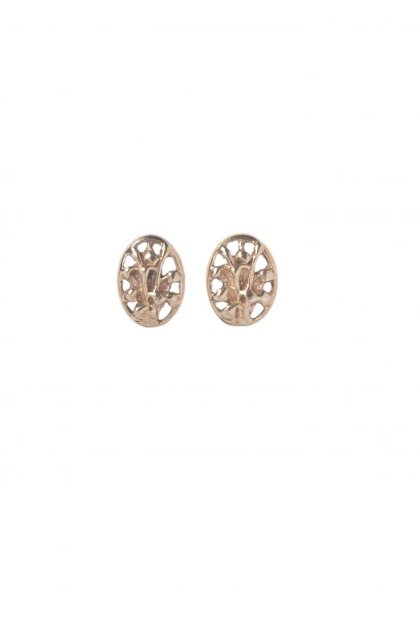 image of cornish tin and gold lily of the valley studs/stud earrings.