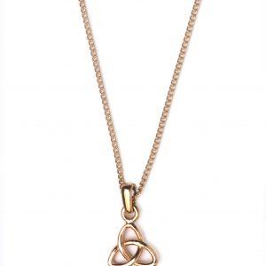 cornish tin & gold tri knot necklace