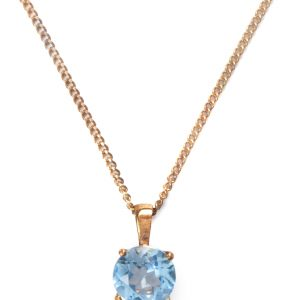 image of cornish tin and gold blue topaz necklace