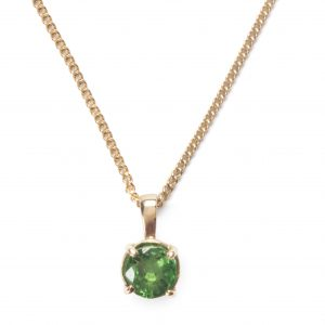image of cornish tin and gold peridot necklace.