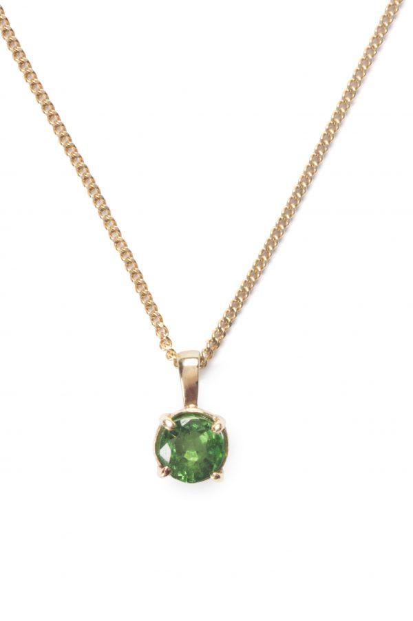 image of cornish tin and gold peridot necklace.