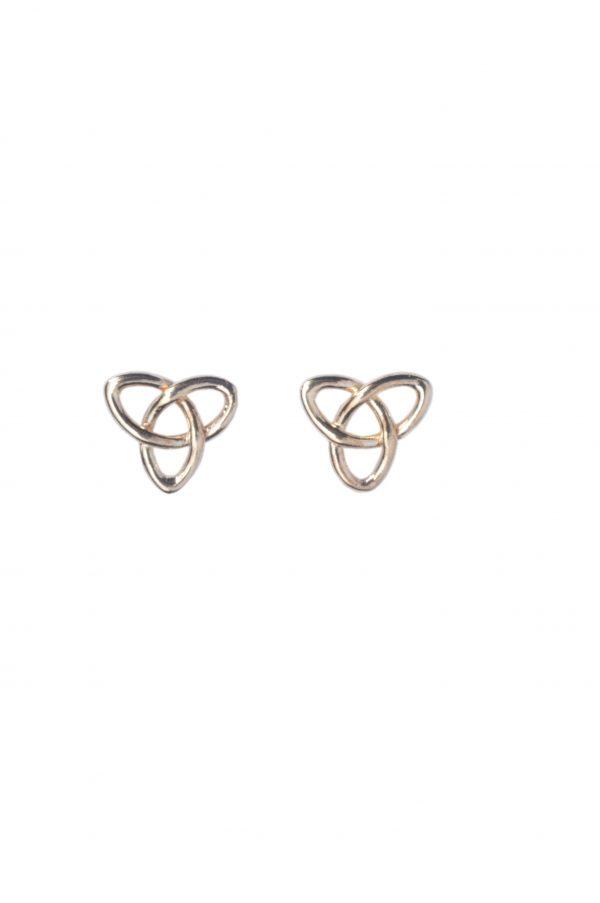 cornish tin & gold tri knot earrings