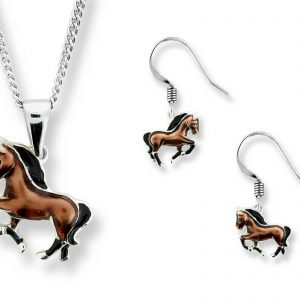 nicole barr horse necklace and earrings
