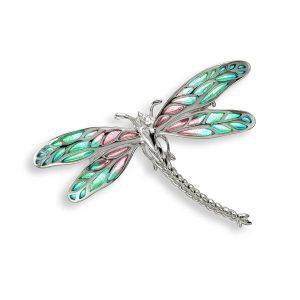Silver Dragonfly Brooch & Pendant