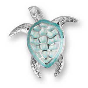 nicole barr turquoise turtle brooch