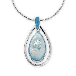 Blue Topaz Teardrop Necklace