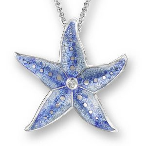 nicole barr blue starfish necklace