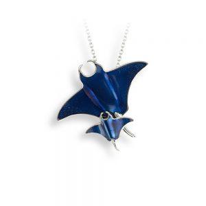 nicole barr blue mantaray necklace
