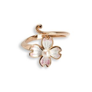 nicole barr flower with pearl ring