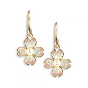 nicole barr flower with pearl earrings