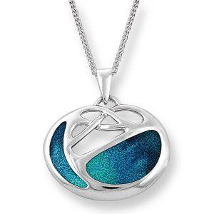 Silver Art Nouveau Turquoise Necklace