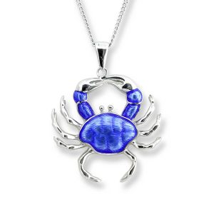 nicole barr blue crab necklace