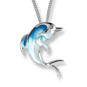 Silver Turquoise Dolphin Necklace