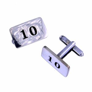 st justin tin 10th anniversary cufflinks