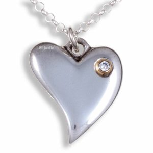 st justin heart necklace