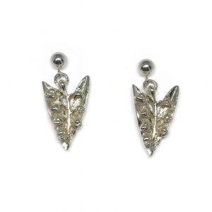 cornish tin & silver lily of the valley drop earrings