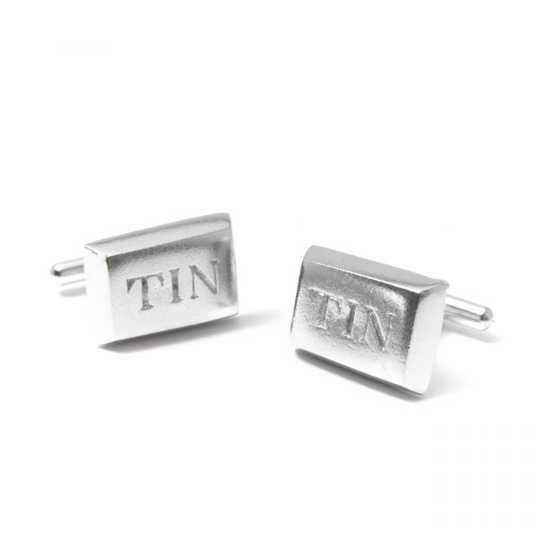 south crofty tin cufflinks