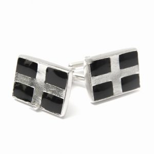 south crofty cornish flag cufflinks