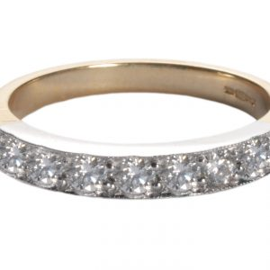 image of diamond gold eternity ring.
