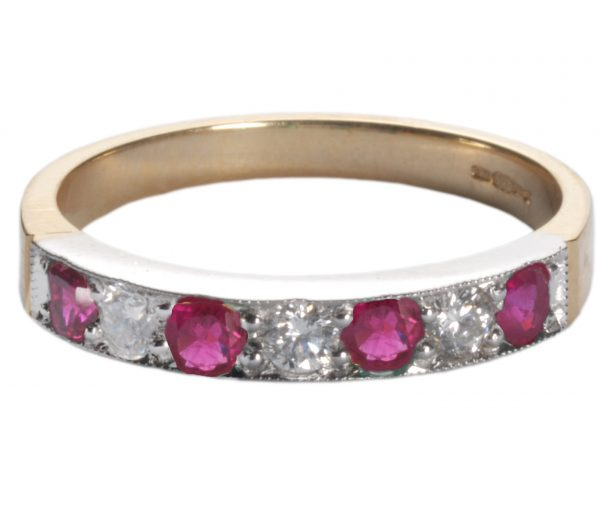 image of ruby and diamond ring.