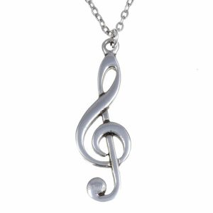 st justin music note necklace