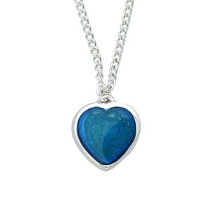st justin blue enamel necklace