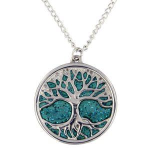 st justin enamel tree of life necklace