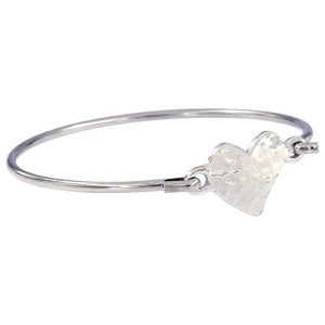 Hammered Heart Clip Bangle