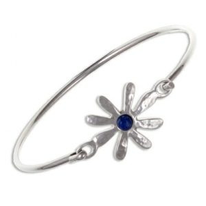 Dahlia Flower clip bangle