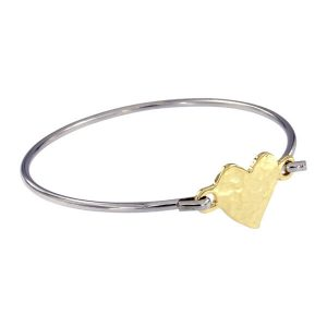 st justin hammered heart bangle