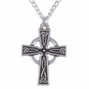 st justin celtic cross necklace