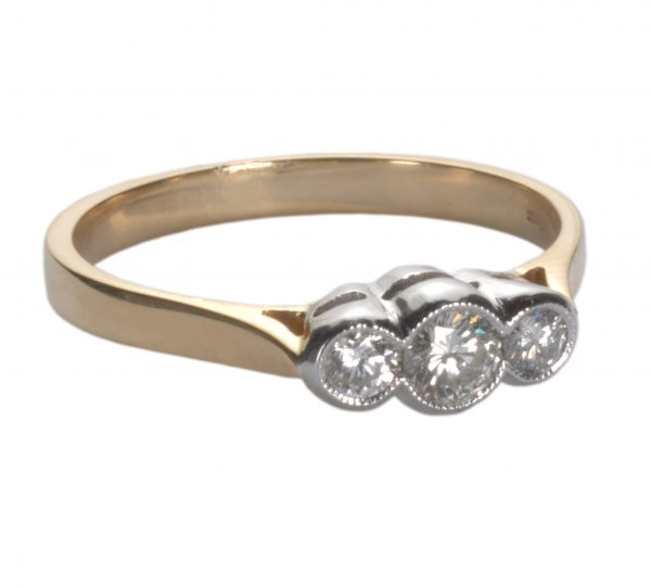 image of diamond and gold ring