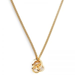image of ladies cornish gold necklace