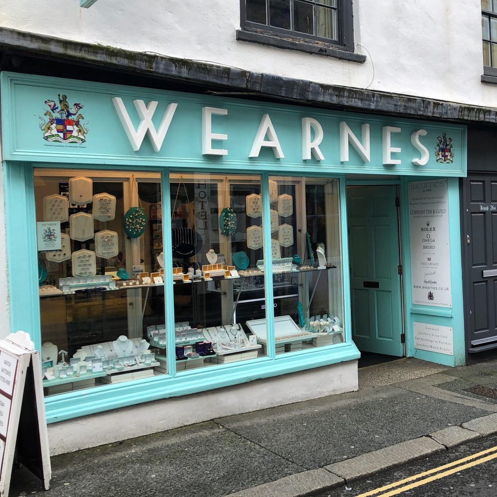 Falmouth wearnes jewellers store image