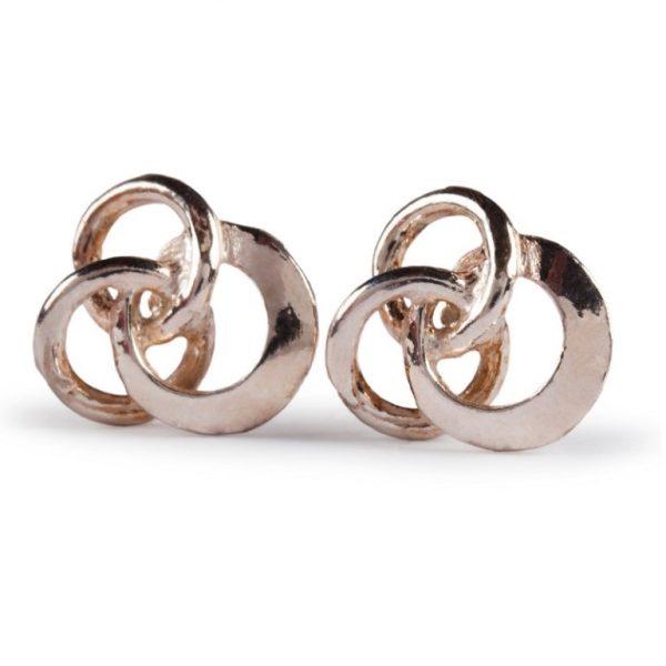 image of Ladies Gold Stud Earrings