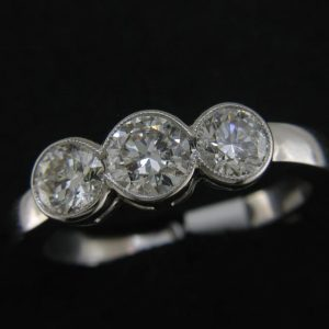 18ct Diamond Three Stone Ring