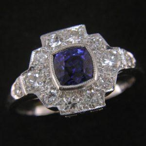 18ct Sapphire & Diamond Cluster