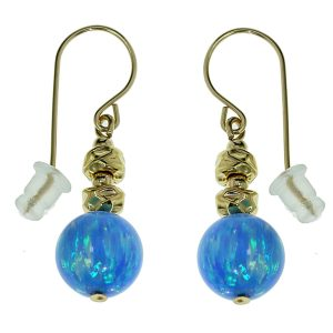 Silver & Gold Opal Earrings